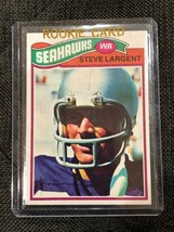 1977 Topps Football #177 Steve Largent Seattle Seahawks RC Rookie HOF - $34.30