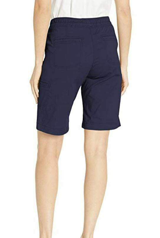 LEE Women's Flex-to-go Relaxed Fit Pull-on Cargo Bermuda Short Blue 6 Medium M image 3