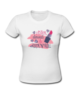 Funny T-Shirts Lipstick Dimonds and Rock N Roll - $23.50