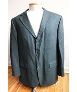 Oscar de la Renta 46 R Green Wool Cashmere 3-Button Blazer Jacket - $31.35