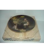 Edwin Knowles Norman Rockwell Grandpa's Treasure Chest plate with box - $18.99