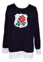 Custom Name # Portland Rosebuds Retro Hockey Jersey New Black Any Size image 4