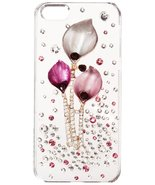 Monoprice Pink Calla Lilies Crystal 3D Diamante Cover for iPhone 5/5s/SE - $11.88