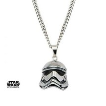 Disney Star Wars Stainless Steel Episode 7 Stormtrooper 3D Pendant with ... - $54.95