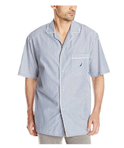 $39 Nautica Men's Woven Stripe Camp Shirt, White, Size M. - $18.80