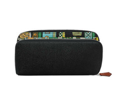 Hermes Azappu silk in Black 100% Auth leather wallet - $1,964.01