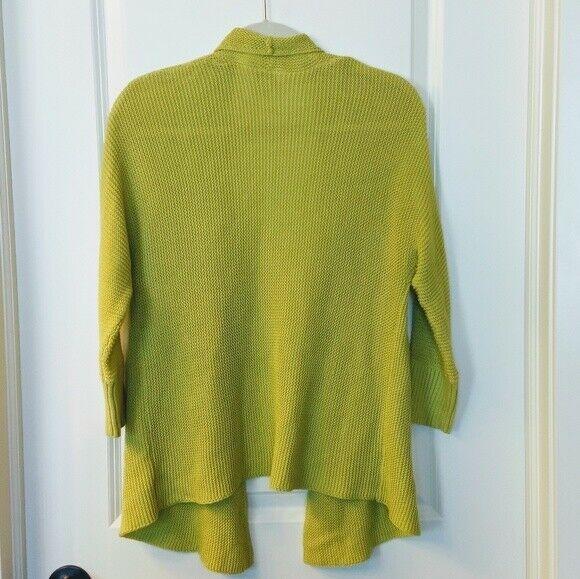 Women's LOFT Green Open Cardigan Sweater Size S image 7