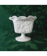 Westmoreland Milk Glass Beaded Grape Ruffled Footed Mayonnaise - $22.00