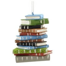 1 X School Book Stack Ornament - $11.14