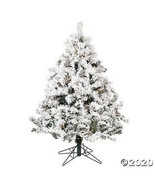 Vickerman 4.5' Flocked Alaskan Pine Christmas Tree with Clear Lights - $294.73