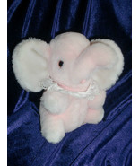 VINTAGE EDEN STUFFED PLUSH PINK BABY ELEPHANT WIND UP TOY MUSICAL FARMER... - $70.53