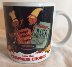 Vtg 1984 Kelloggs Rice Krispies Coffee Mug Join The Crispness Chorus Cer... - $9.50