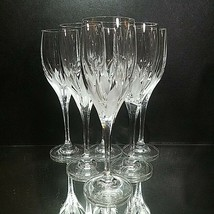 "6 (Six) MIKASA "" Flame D'Amore"" Cut Lead Crystal Wine Glasses - $113.99"