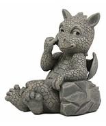 Ebros Whimsical Garden Dragon Picking Nose Treasure Hunt Statue Cute Bab... - $39.59