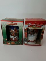 2 Budweiser Holiday Steins 1998 2006 Collectibles in Box - $38.69