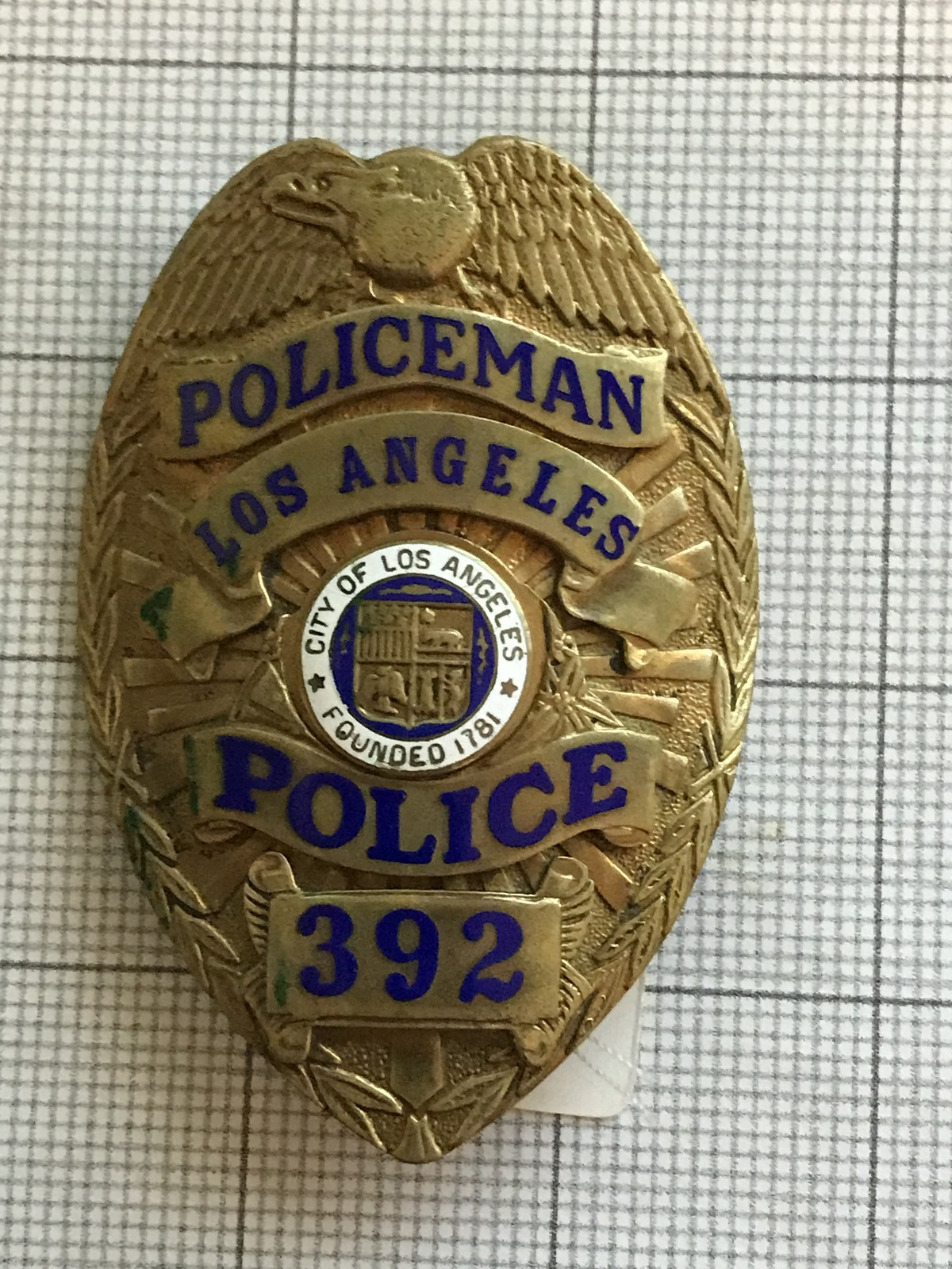 Primary image for Los Angeles Police Obsolete Badge #392
