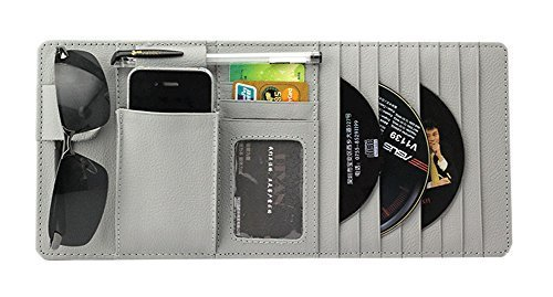 Auto Accessories DVD/CD Storage CD Visor Organizer 10-Pocket CD Holder Gray