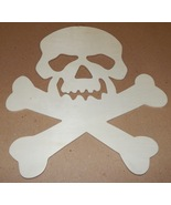 "Halloween Wooden Plaques Creatology 12"" x 10"" Kid Crafts Skull & Crossbo... - $3.49"