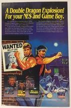 Double Dragon Explosion Nintendo NES Game Boy Video Game Ad Comic Advert... - $13.07