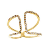 14K Yellow Gold Plated in 925 Silver White CZ Round Cut Adjustable Suzy ... - £59.09 GBP