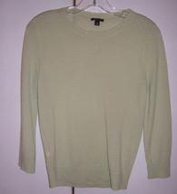 Ann Taylor Light Green Extra Fine Merino Wool Sweater Sz Small EUC - $22.52