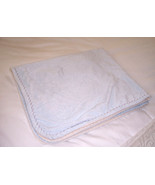 Blankets & Beyond Baby Blue and Cream Plush Fleece Blanket So Soft EUC - $24.70