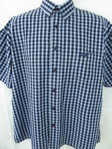 Nautica Men's Sleepwear Shirt Size M Blue Button Front 100% Cotton Logo ... - $12.22