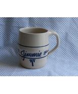 Jimmie Personalized Mug, White with Blue Marsha... - $17.99