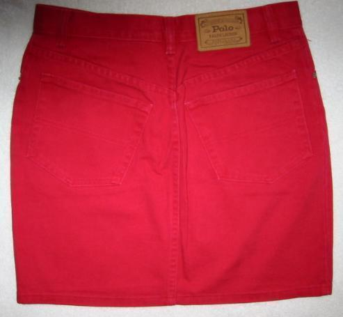 Primary image for Polo Ralph Lauren Country Red Denim Skirt Size 10