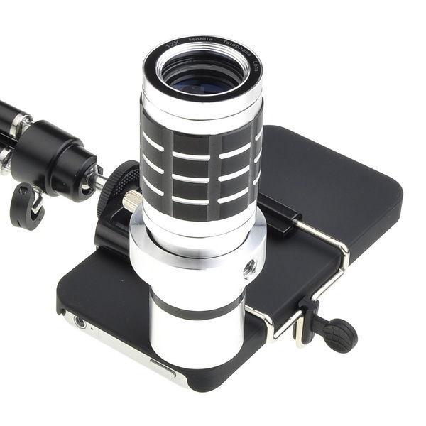 12X Optical Zoom Lens Camera Telescope Tripod Case Cover For Apple iPhone 4S 4