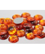 20mm Orange Hyacinth H125 Flat Back Round Acrylic Gems High Quality Pro ... - $5.33