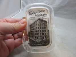 Vintage advertising paperweight. Farmers & Traders National Bank. Coving... - $18.99