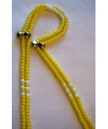 ENDURANCE YELLOW ~ HORSE RHYTHM BEADS ~ Size 54 Inches - $19.00