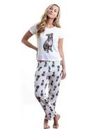 Dog Brown Pitbull pajama set with pants for women - $35.00