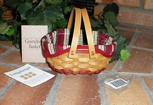 Longaberger 2004 Tree Trimming Gum Drop Basket Tie On New Original Bag Authentic