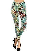 Women Fashion Leggings- Stretchy and Comfortable (Animals & Paisleys) [A... - $15.83