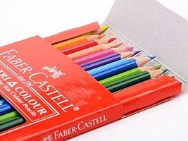 FC-200-TC24 Faber-castell Soft Lead-no Pressure Required Tri-colour Pencils (... - $9.89
