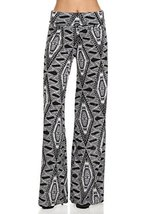 ICONOFLASH Women's Small Spikey Tribal Wide Leg Palazzo Pants with Fold-Over ... - $31.67
