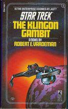 The Klingon Gambit Star Trek Orginal Series No 3 by Robert Vardeman - $4.00