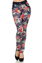 ICONOFLASH Women's Floral Jeggings (Spring, S/M) [Apparel] - $18.80