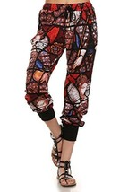 ICONOFLASH Women's Printed Joggers with Elastic Waistband & Pockets (Stained ... - $28.70