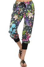 ICONOFLASH Women's Printed Joggers with Elastic Waistband & Pockets (Bright F... - $28.70