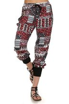 ICONOFLASH Women's Printed Joggers with Elastic Waistband & Pockets (Tribal, ... - $28.70