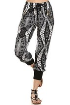 ICONOFLASH Women's Printed Joggers with Elastic Waistband & Pockets (Spikey T... - $28.70