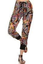 ICONOFLASH Women's Printed Joggers with Elastic Waistband & Pockets (Tiki Hut... - $28.70