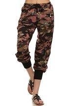 ICONOFLASH Women's Printed Joggers with Elastic Waistband & Pockets (Camoufla... - $28.70