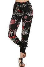 ICONOFLASH Women's Printed Joggers with Elastic Waistband & Pockets (Decorate... - $28.70