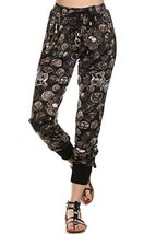 ICONOFLASH Women's Printed Joggers with Elastic Waistband & Pockets (Vintage ... - $28.70