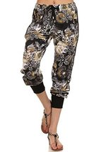 ICONOFLASH Women's Printed Joggers with Elastic Waistband & Pockets (Floral o... - $28.70