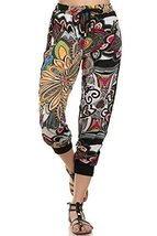 ICONOFLASH Women's Printed Joggers with Elastic Waistband & Pockets (Psychede... - $28.70